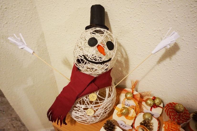 Hacer muñeco de nieve decoración navidad